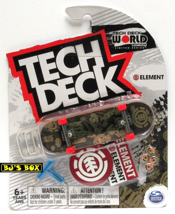 Tech Deck World Edition Skateboard ELEMENT Rare Gold Black Fingerboard Limited Series New