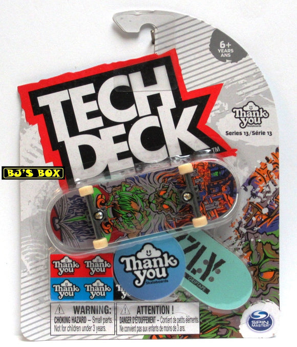 Tech Deck Skateboard THANK YOU Series 13 Ultra Rare Torey Pudwill Fingerboard with Accessories New
