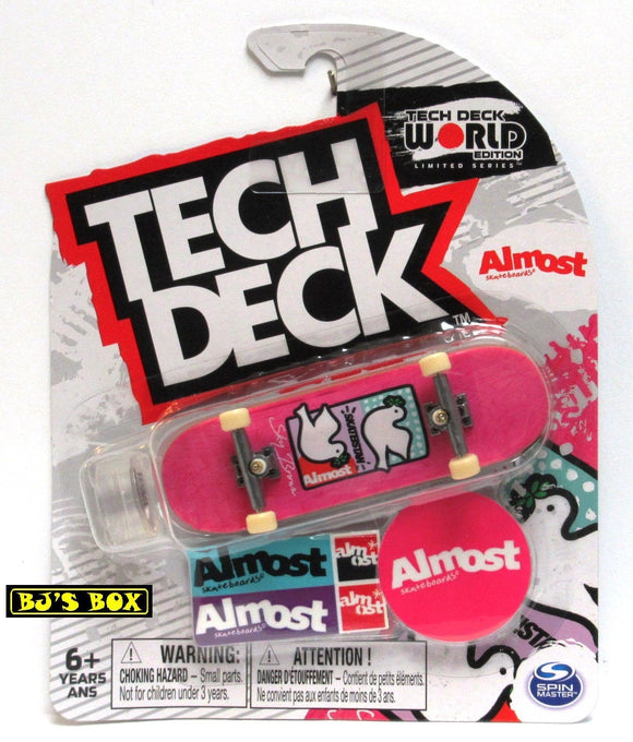 Tech Deck World Edition Skateboard ALMOST Sky Brown Ultra Rare Fingerboard Limited Series New
