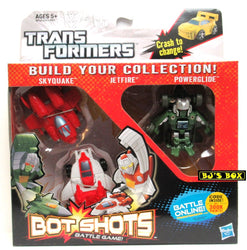 Transformers Bot Shots SKYQUAKE JETFIRE POWERGLIDE Figure 3 Pack Battle Game Series #1 New