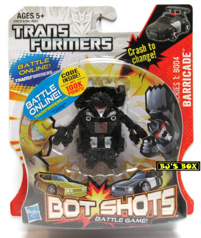 Transformers Bot Shots BARRICADE Action Figure Battle Game Series #1 B004 New