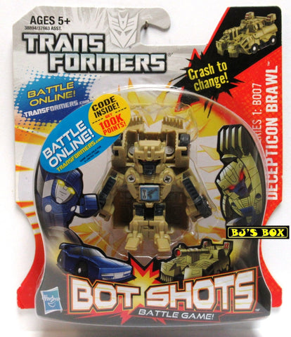 Transformers Bot Shots DECEPTICON BRAWL Action Figure Battle Game Series #1 B007 New