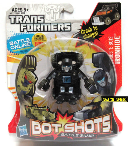 Transformers Bot Shots IRONHIDE Action Figure Battle Game Series #1 B012 New