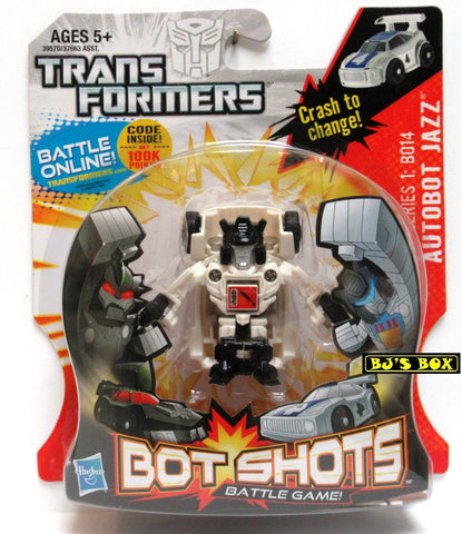 Transformers Bot Shots AUTOBOT JAZZ Action Figure Battle Game Series #1 B014 New
