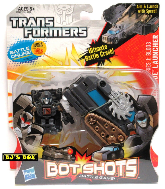 Transformers Bot Shots IRONHIDE LAUNCHER with Figure Battle Game Series #1 BL003 New