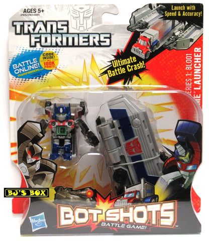 Transformers Bot Shots OPTIMUS PRIME LAUNCHER with Figure Battle Game Series #1 BL001 New