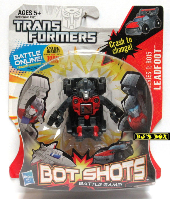 Transformers Bot Shots LEADFOOT Action Figure Battle Game Series #1 B015 New
