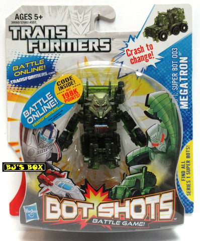 Transformers Bot Shots MEGATRON Figure Battle Game Series #1 Super Bot 003 New