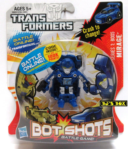 Transformers Bot Shots MIRAGE Action Figure Battle Game Series #1 B005 New