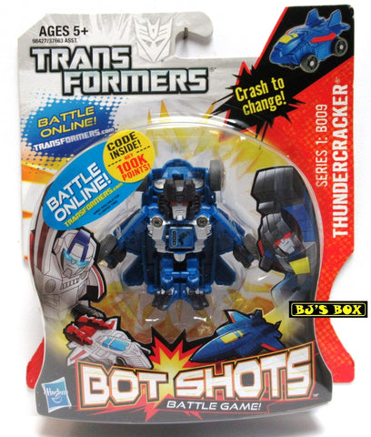 Transformers Bot Shots THUNDERCRACKER Action Figure Battle Game Series #1 B009 New