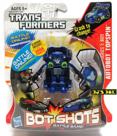 Transformers Bot Shots AUTOBOT TOPSPIN Action Figure Battle Game Series #1 B011 New