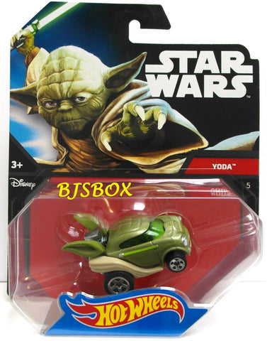 Hot Wheels Die-Cast YODA #5 Star Wars Character Car Disney New