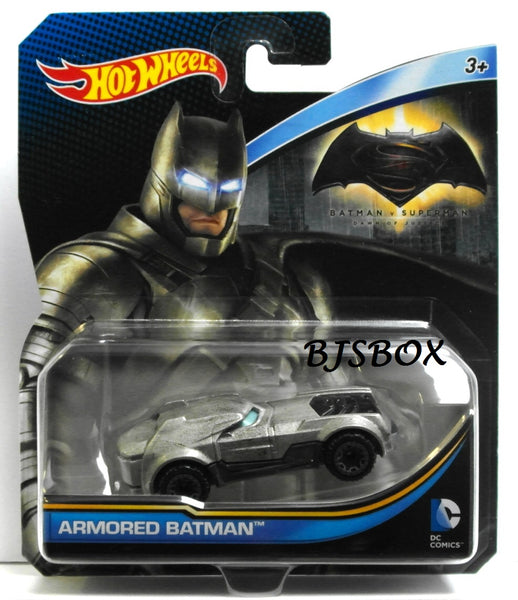 Hot Wheels DC Comics ARMORED BATMAN Character Cars New Mattel Die-cast Toy