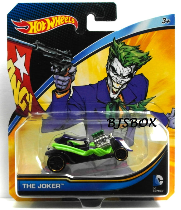 Hot Wheels DC Comics THE JOKER Car Batman New Sealed Mattel Die-cast Toy