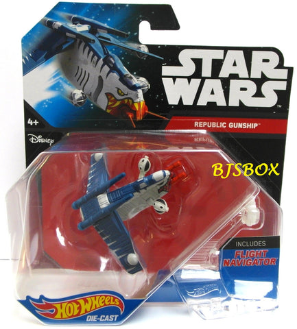 Hot Wheels Star Wars REPLUBIC GUNSHIP Tiger Shark Fighter Disney New