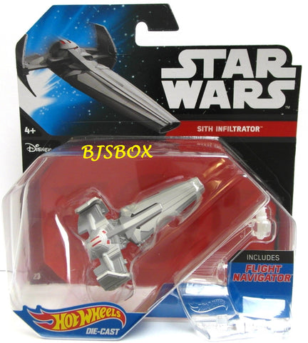 Hot Wheels Star Wars SITH INFILTRATOR #23 Starship Fighter Disney New