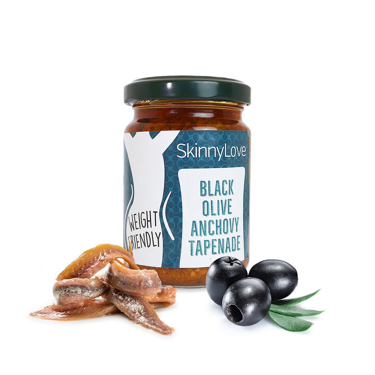 SkinnyLove Spread | black olive anchovy tapenade