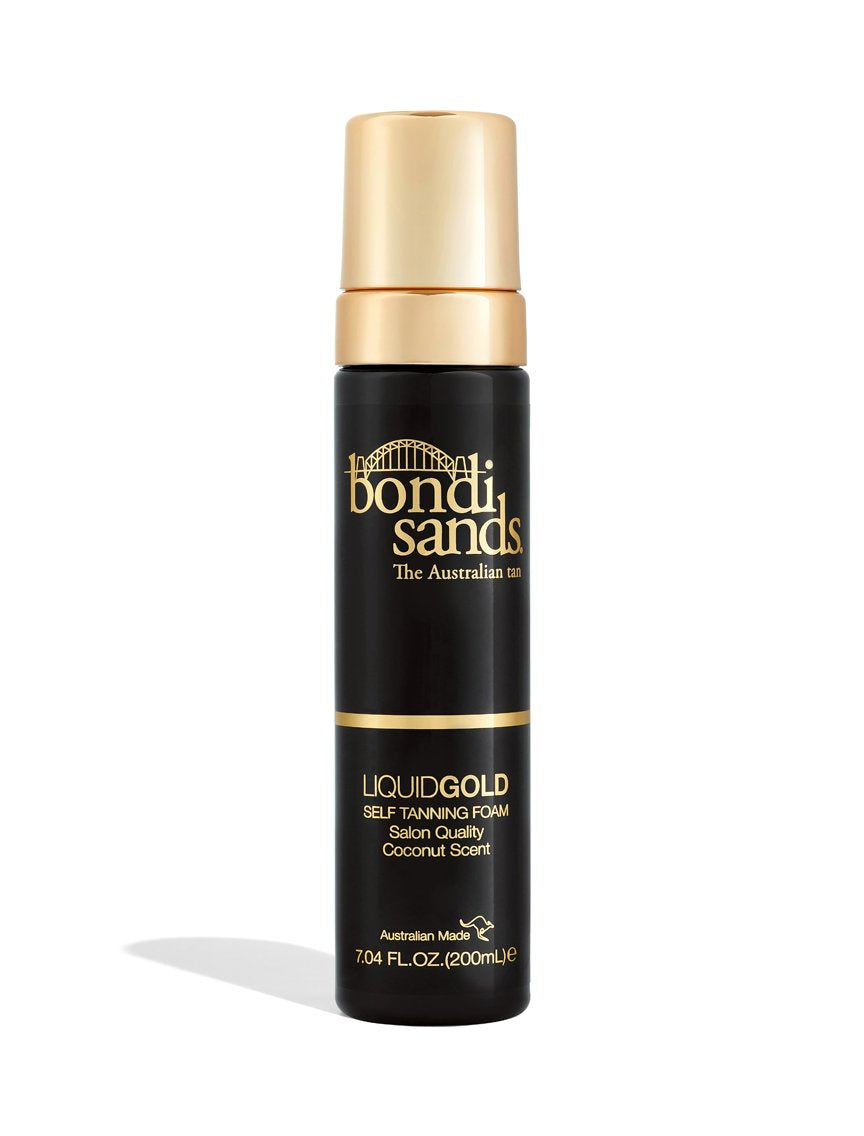 Liquid Gold Self-Tanning Foam for All Skin Tones with Argan Oil and Coconut Scent