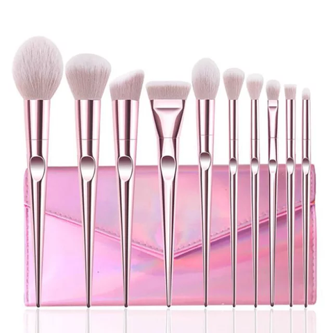 10pc Makeup Brush Set Limited Edition. Ships Free!