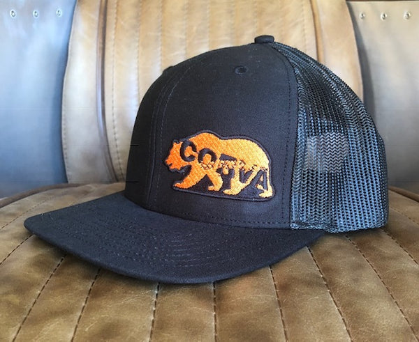CORVA - The Public Lands Bear Mesh Hat - Black