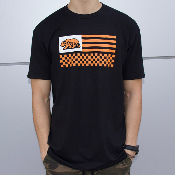 CORVA Bear Race Tee - Black