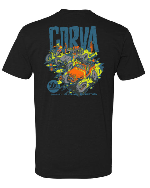 CORVA 50th ANNIVERSARY TEE Limited Edition- BLACK | PREORDER