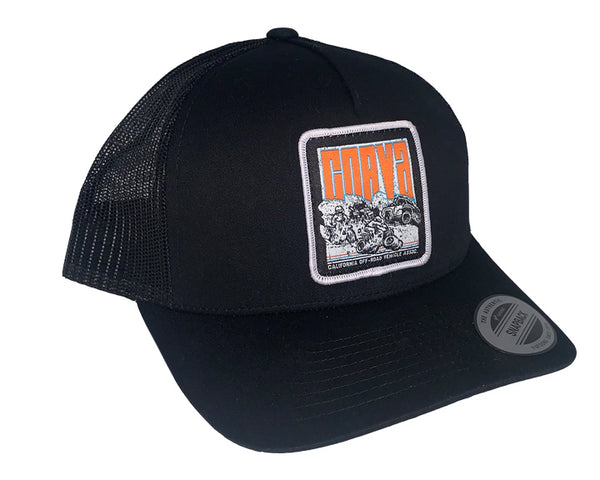 CORVA - Patch Mesh Hat - Black