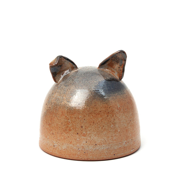 Shino Glazed Dog Memorial Vessel Rust