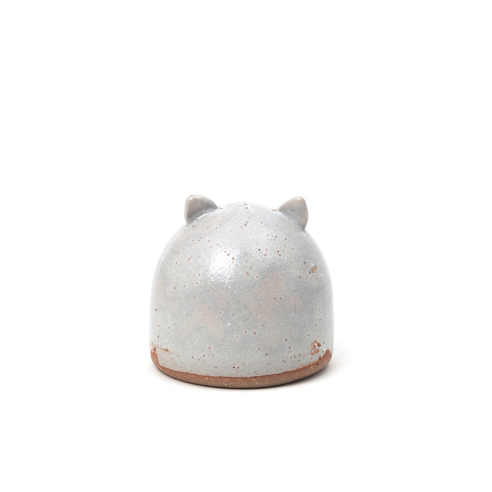Stoneware Shino Cat Memorial Rattle