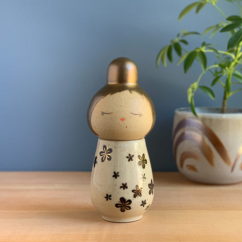 Inner Light Kokeshi-Inspired Ceramic Doll