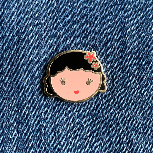Bright-Eyed Enamel Pin