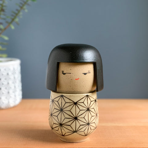 Asanoha Pattern Tea Doll