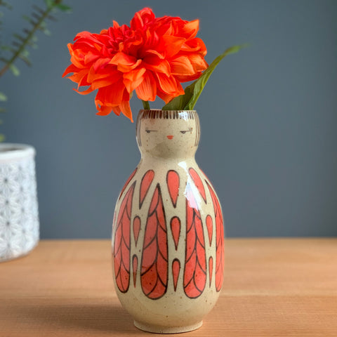 Fancy Feathered Friend Vase