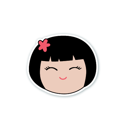 Cheerful Girl Sticker