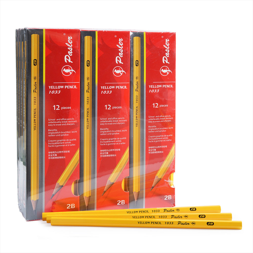 1033 Yellow Pencil Pack of 12set of 144pcs