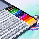 12 Watercolour Pencil pack of metal box
