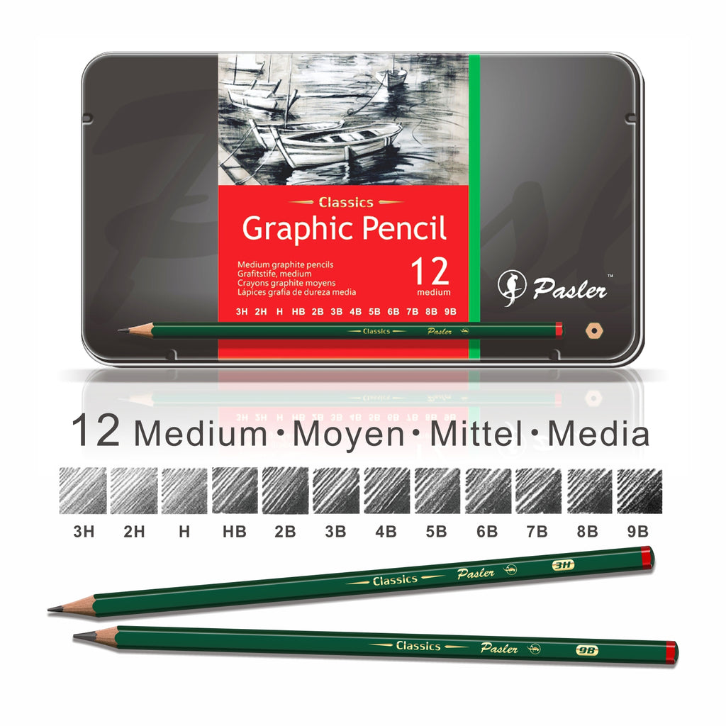 Graphic Drawing Pencil Set of 12 Count
