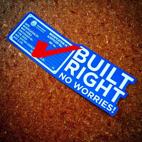 Built Right Sticker
