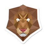 Geometric Lion Sticker