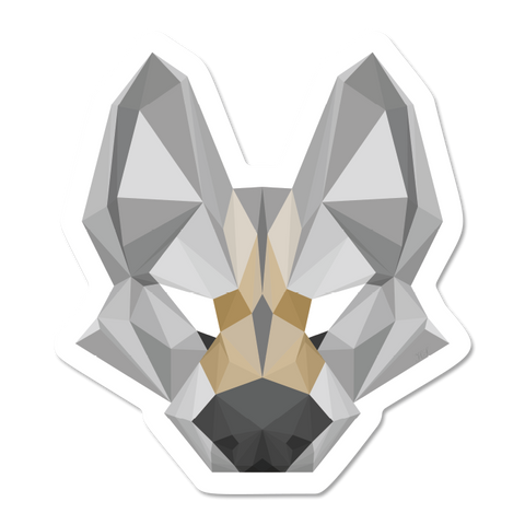 Geometric Wolf Sticker