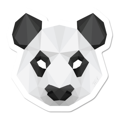 Geometric Panda Sticker