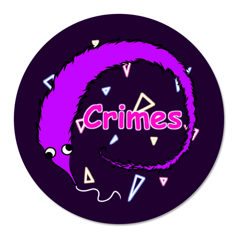 Worm Crimes Sticker