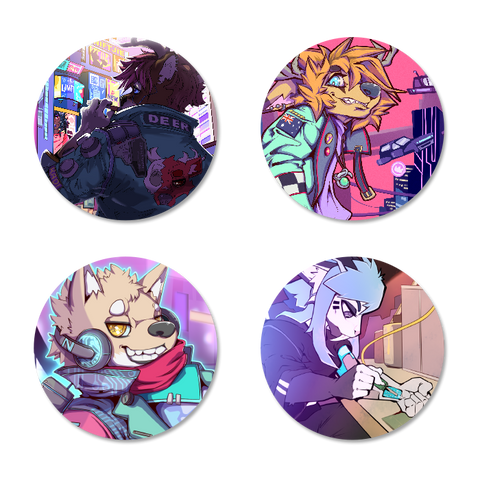 Niftjie Cyberpunk Button Pack