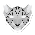 Geometric Snow Leopard Sticker