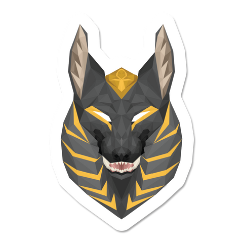 Geometric Anubis Sticker