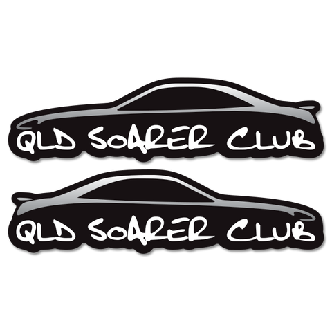 QLD Soarer Club Silhouette Sticker