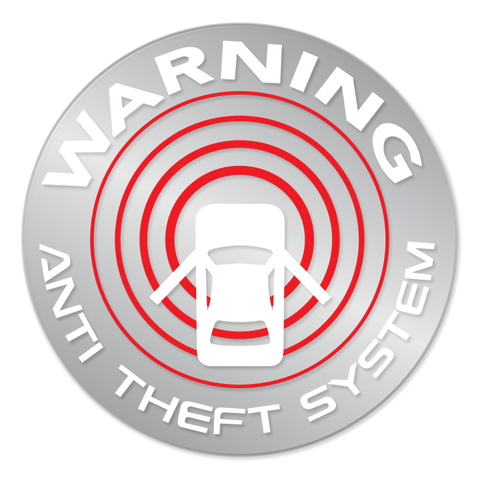 Reproduction Nissan Alarm Warning Sticker