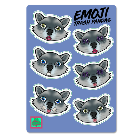 Emoji Trash Panda Sticker Sheet