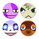 Niftjie Animal Crossing Button Pack