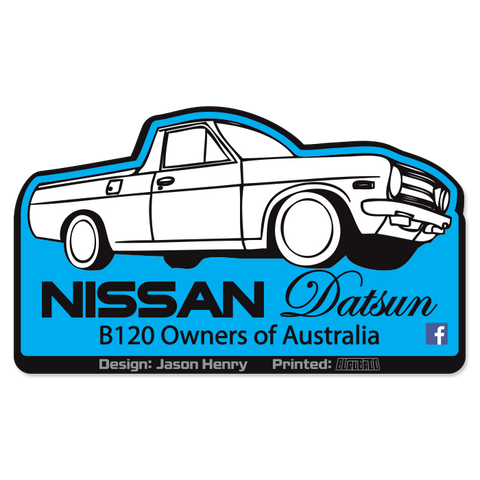 Datsun B120 Owners Stickers
